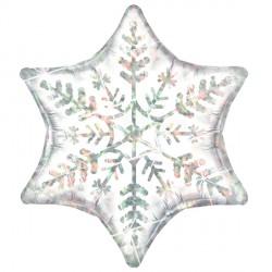 Dazzling White Snowflake Shape Standard Balloon
