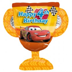 4th Birthday Trophy Disney Cars Supershape Balloon
