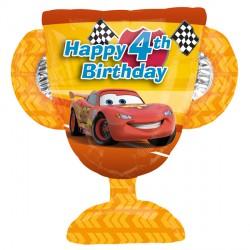 4th Birthday Trophy Disney Cars Supershape Balloon