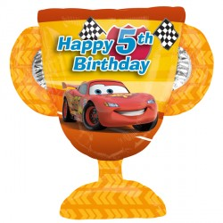 5th Birthday Trophy Disney Cars Supershape Balloon
