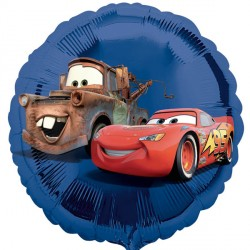 Blue Lightning McQueen & Tow Mater Disney Cars Standard Balloon