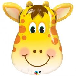 Jolly Giraffe Head Supershape Balloon
