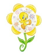 Tweety Pie Flower Supershape Balloon