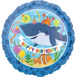 Happy Birthday Ocean Buddies Standard Balloon