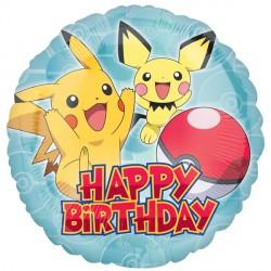 Happy Birthday Baby Pikachu Pokemon Standard Balloon