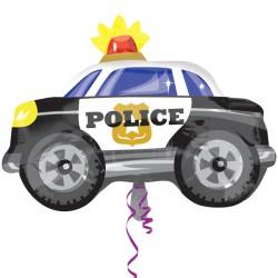 Police Car Junior Shape Standard Balloon