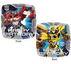 Transformers Optimus Prime Bumblebee Happy Birthday Balloon
