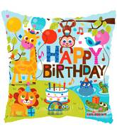 Happy Birthday In The Jungle Standard Balloon