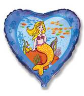 Mermaid Under Sea Standard Balloon