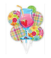 Day In Paradise Cocktail Balloon Bouquet