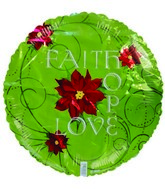 Green Faith Hope Love Standard Balloon
