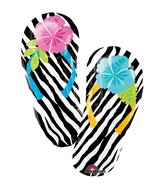 Wild Isle Zebra Flip Flops Supershape Balloon