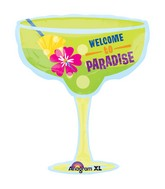 Welcome To Paradise Cocktail Supershape Balloon