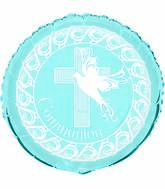 Blue 1st Holy Communion Dove Standard Balloon