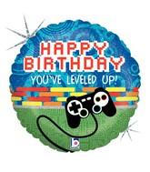 Happy Birthday Level Up Game Control Standard Balloon