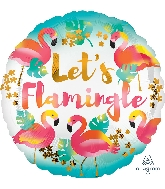 Lets Flamingle Flamingo Standard Balloon