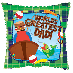 World's Greatest Dad Fishing Standard Balloon