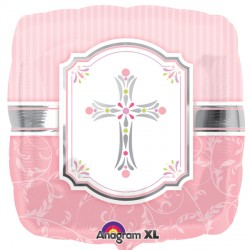 Pink Blessings Cross Standard Balloon