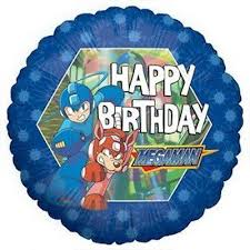 Happy Birthday Megaman Standard Balloon