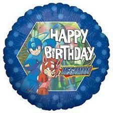 Happy Birthday Megaman Standard Balloon