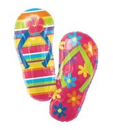Tropical Flip Flops Supershape Balloon