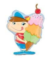 Ice Cream Boy Supershape Balloon