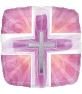 Pink Joyous Cross Standard Balloon