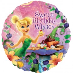 Tinkerbell Sweet Birthday Wishes Standard Balloon