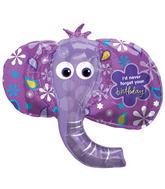 Happy Birthday Elephant Head Supershape Balloon