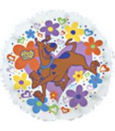Scooby-Doo I Love You Flowers Standard Balloon