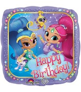Happy Birthday Shimmer & Shine Standard Balloon