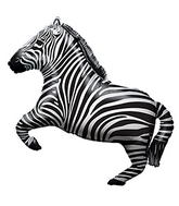 Zebra Jumping Supershape Balloon