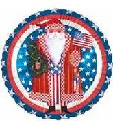 American Patriotic Santa Standard Balloon