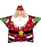 Father Christmas Star Standard Balloon