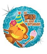 Monkey Wild Birthday Standard Balloon