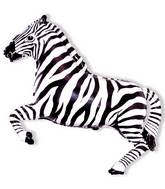 Zebra Black Stripe Supershape Balloon