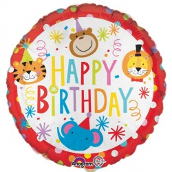 Happy Birthday Circus Animals Standard Balloon