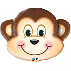 Mischievous Monkey Head Supershape Balloon