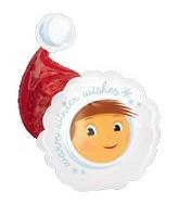 Elf With Santa Hat Supershape Balloon