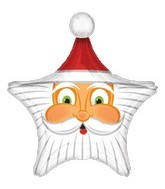 Santa Star Face Supershape Balloon