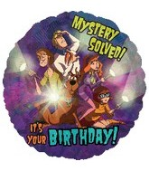 Scooby-Doo Mystery Solved It's Your Birthday Standard Balloon