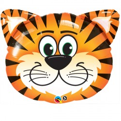 Tickled Tiger Head Supershape Balloon
