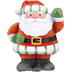 Whimsical Father Christmas Waving Supershape Balloon