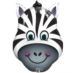 Zany Zebra Head Supershape Balloon