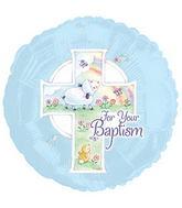 Blue Spring Scene Baptism Standard Balloon