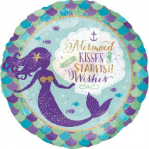 Mermaid Kisses Starfish Wishes Standard Balloon