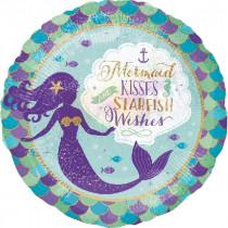 Mermaid Kisses Starfish Wishes Standard Balloon
