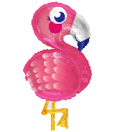 Cute Flamingo Supershape Balloon
