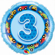 Happy 3rd Birthday Trucks Balloon