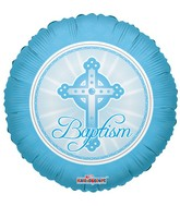 Blue Cross Baptism Standard Balloon